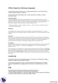 HTML - Apuntes - Arquitectura Web