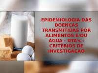 Doenças Transmitidas por Alimentos - Apostilas - Nutrição