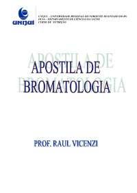 Bromatologia - Apostilas - Nutrição, Notas de estudo de Nutrição