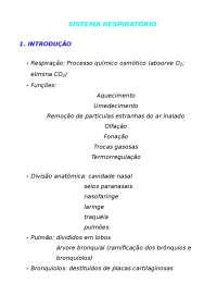Sistema Respiratorio - Apostilas - Veterinaria