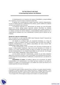Modularización - Texto Parnas - Diseño de Sistemas