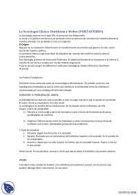 La sociología clásica - Resumen - Sociología