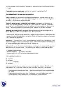 Estructura Lógica de la Teoría Cientifica - Apuntes - Administración del conocimiento