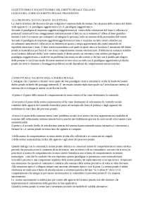 Oggettivismo e soggettivismo nel diritto penale italiano - Appunti - Diritto penale progredito