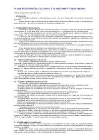 Planejamento Educacional e Planejamento do Ensino - Apostilas - Psicopedagogia