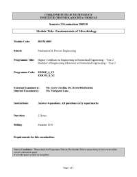 Gram Reaction - Fundamentals of Microbiology - Past Exam Paper