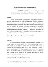 Tecnologia no ensino Básico - Apostilas - Telecomunicações