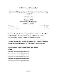 Potential Developers - Information Technology - Past Exam Paper