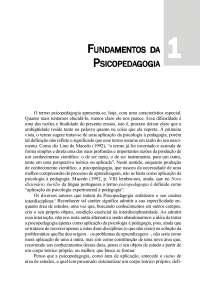 Fundamentos da Psicopedagogia - Apostilas - Psicopedagogia