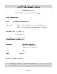 Negative Stain - Fundamentals of Microbiology - Past Exam Paper