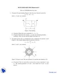 Airy Stress Function - Mechanics of Aerospace Structures - Homework