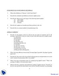 Bitumen - Civil Engineering - Quiz