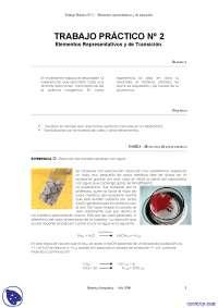Elementos Representativos Y De Transición - Apuntes - Química inorgánica