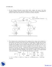 4-Degree of Freedom System - Mechanical Vibrations - Exam