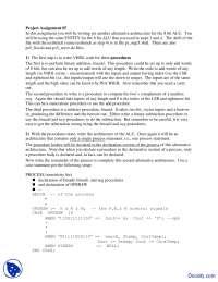 Alternative Architecture - HDL Design - Assignment