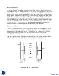 Behavioral Description - HDL Design - Assignment