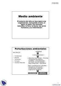 Medio Ambiente - Apuntes - Gestión ambiental
