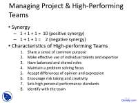 Managing Project Teams - Technical Communication - Lecture Slides