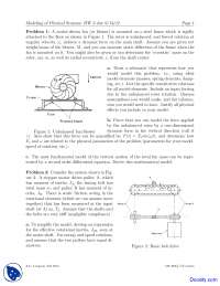 Dynamic Force - Modeling of Physical Systems - Home Work