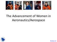 Advancement - Women in Different Fields - Lecture Slides