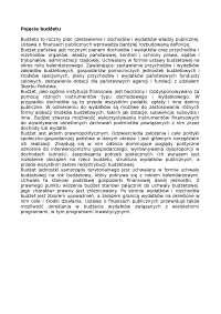 Pojęcie budżetu - Notatki - Ekonomia