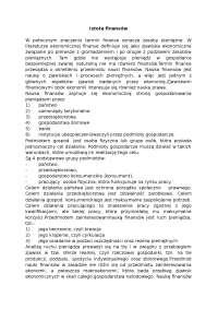 Istota finansów - Notatki - Finanse publiczne