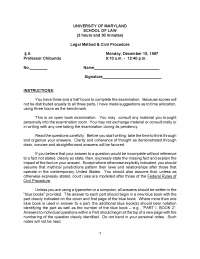 Payments on Insureds Claims - Intro to Civil Procedure - Past Paper