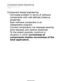 Components - Principles of Software Development - Lecture Notes