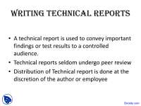 Writing Technical Reports - Women in Different Fields - Lecture Slides
