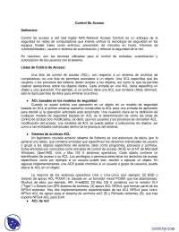 Control de Acceso Sistemas distribuidos- Apuntes - Sistemas distribuidos