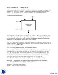 Floating Pt Unit - Theory and Design of Computers - Assignment