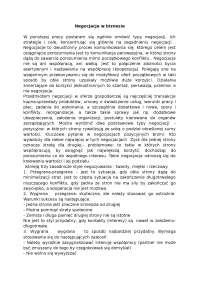 Negocjacje w biznesie - Notatki - Negocjacje