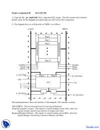 Datapath - Theory and Design of Computers - Assignment
