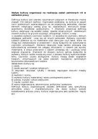 Wpływ kultury organizacji na realizację zadań pełnionych ról w zakładzie pracy - Notatki - Badania operacyjne