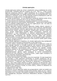 Umowa agencyjna - Notatki - Prawo
