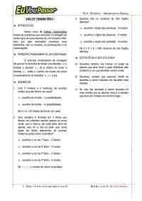 Análise Combinatoria I - Apostilas - Sistemas