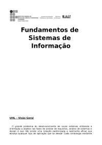 UML 1 - Apostilas - Sistemas