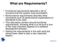 Functional Requirements - Introduction to Databases - Lecture Slides