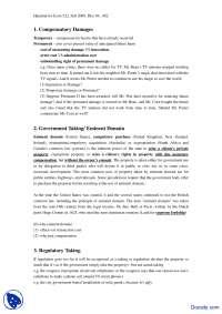 Compensatory Damages - Economics of Law - Handout