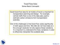 Travel Flow Data - Transportation Engineering - Lecture Slides