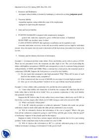 Insurance and Bankruptcy - Economics of Law - Handout