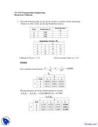 Gravity Model - Transportation Engineering - Solved Homework