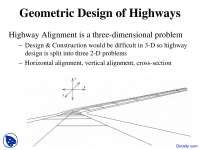 Geometric Design of Highways - Transportation Engineering - Lecture Slides
