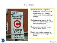 Mode Choice - Transportation Engineering - Lecture Slides