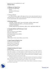 Efficiency in Contract Law - Economics of Law - Handout