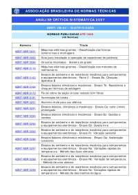 Lista de Normas - Apostilas - Manutenção Industrial