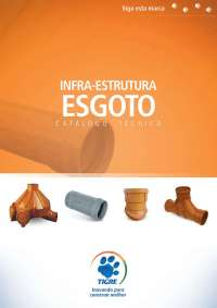 catalogo infraestrutura esgoto, Notas de estudo de Engenharia Civil
