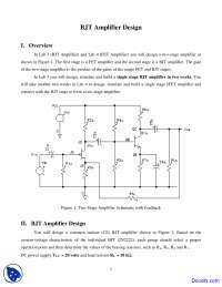 Amplifier Design - Analog Electronics - Lab Handout