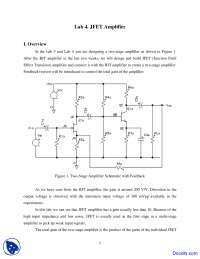 Two-Stage Amplifier - Analog Electronics - Lab Handout