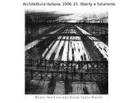 Architettura italiana 1906-15 - Profilo di storia dell'architettura italiana